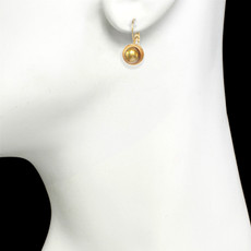 Michal Golan Citrine Tiny Gold Earrings