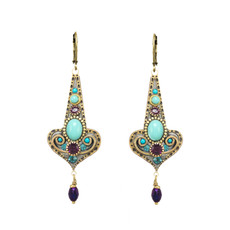 Michal Golan Kasbah Motif Drop Earrings