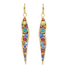 Michal Golan Cosmic Long Icicle Wire Earrings