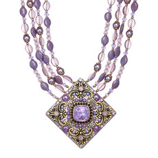 Michal Golan Lilac Large Diamond Necklace