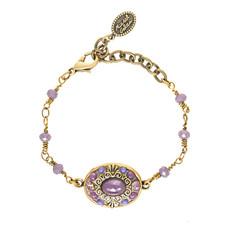 Michal Golan Lilac Oval Bracelet