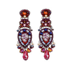 Ayala Bar Ruby Tuesday Fire Burning Earrings