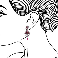 Ayala Bar Ruby Tuesday Merlot Earrings - New Arrival