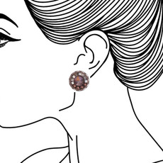 Ayala Bar Mother Earth Cute as a Button Earrings - New Arrival