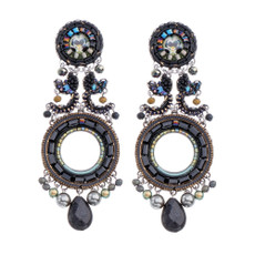 Ayala Bar Festival Night Pitch Black Earrings