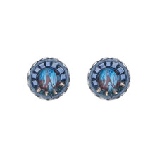 Ayala Bar Sapphire Rain Cute as a Button Earrings