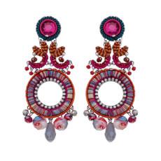 Ayala Bar Crimson Voyage Colorful World Earrings