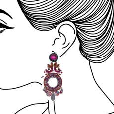 Ayala Bar Crimson Voyage Colorful World Earrings - New Arrival