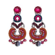 Ayala Bar Crimson Voyage Flamenco Earrings