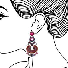Ayala Bar Crimson Voyage Flamenco Earrings - New Arrival