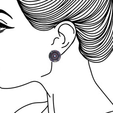 Ayala Bar Ethereal Presence Cute as a Button Earrings - New Arrival