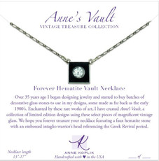 Anne Koplik Forever Hematite Vault Necklace