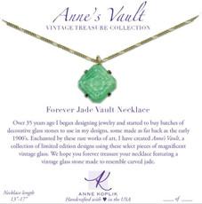 Anne Koplik Forever Jade Vault Necklace