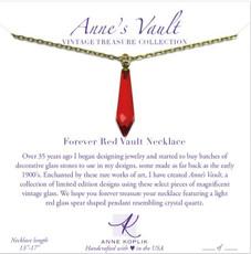 Anne Koplik Forever Red Vault Necklace