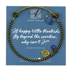 Anne Koplik Bluebird Joy Charm Bangle