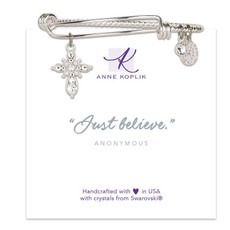 Anne Koplik Cross Believe Charm Bangle