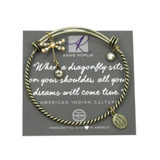 Anne Koplik Dragonfly Dream Charm Bangle
