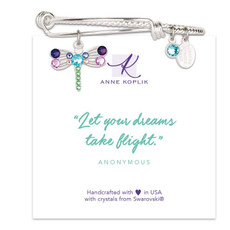 Anne Koplik Dragonfly Flight Charm Bangle
