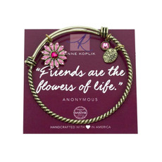 Anne Koplik Flower Friendship Charm Bangle