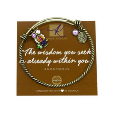 Anne Koplik Wisdom Owl Charm Bangle