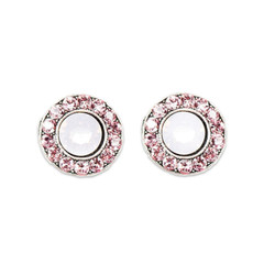 Anne Koplik Light Rose Stud Earrings