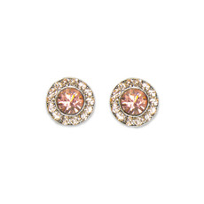 Anne Koplik Rose Peach Stud Earrings