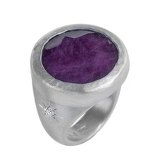 Nava Zahavi Silver Inspiring Ruby Ring