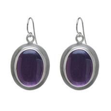 Nava Zahavi Silver Purple Rain Earrings