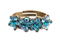 Michal Negrin Jewelry 4 Flower Adjustable Ring - 100-095190-107