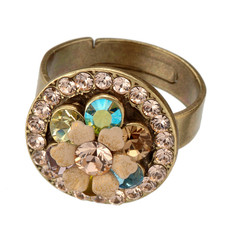 Michal Negrin Ring With Flower Crystal