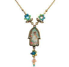 Small Hamsa Hand Necklace By Michal Negrin