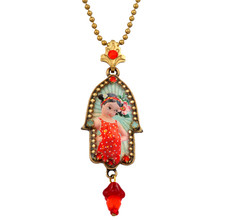 Hamsa Symbol Necklace By Michal Negrin