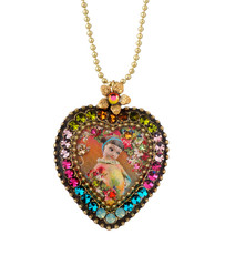 Michal Negrin Crystal Heart Necklace