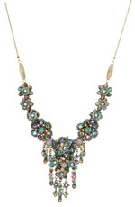 Michal Negrin Crystal Flowers Necklace (4379)