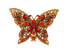 Michal Negrin Jewelry Crystal Butterfly Shape Pin - 100-102820-038
