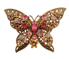 Michal Negrin Jewelry Crystal Butterfly Shape Pin - 100-102820-111