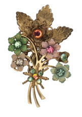 Michal Negrin Jewelry Swarovsky Crystals Flowers Pin