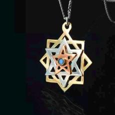 Kabbalah Tikun Hava Gold And Silver Pendant