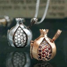 Diamonds And White Gold Pommegranate Pendant
