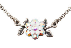 Michal Negrin Silver Flowers Necklace (4467)