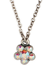 Michal Negrin Silver Flowers Necklace (4473)