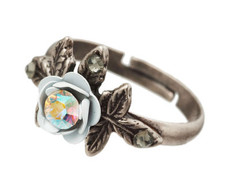 Michal Negrin Jewelry Silver Flower Ring