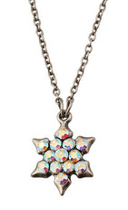 Silver Crystal Jewish Star Of David Necklace By Michal Negrin