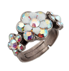 Michal Negrin Jewelry Silver Adjustable Ring (4486)