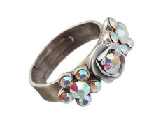 Michal Negrin Jewelry Silver Adjustable Ring (4487)