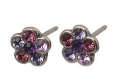 Michal Negrin Small Silver Pierce Earrings