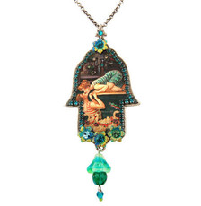 Silver Hamsa Necklace By Michal Negrin Jewelry