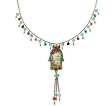 Silver Jewish Hamsa Necklace By Michal Negrin