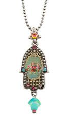 Michal Negrin Silver Small Hamsa Necklace