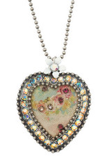 Michal Negrin Crystal Heart Necklace (4525)